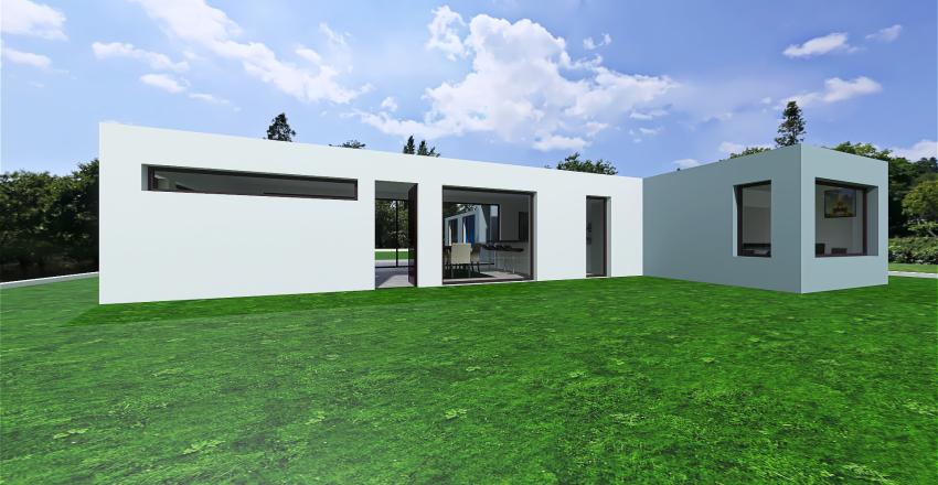 2 plantas. Garage lateral Interior Design Render