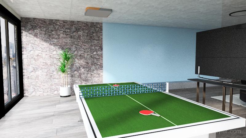 departamento moderno Interior Design Render
