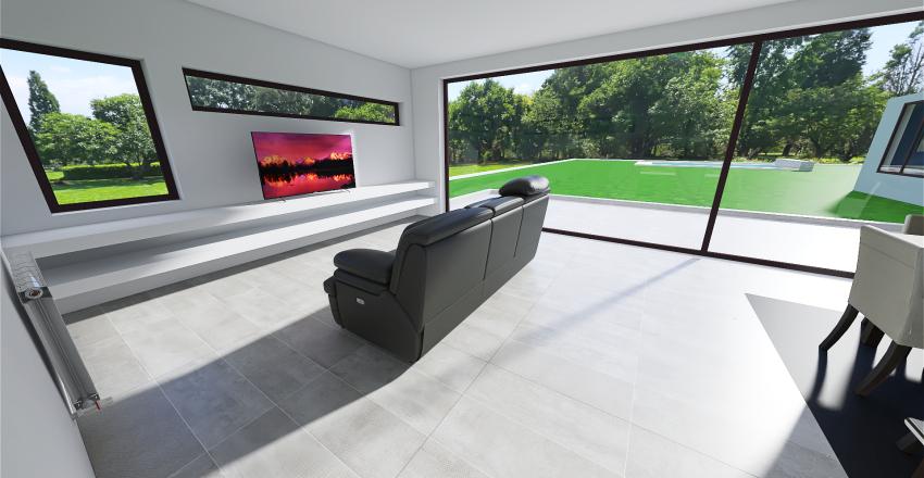 Casa Hormigon 1 planta con garage Interior Design Render