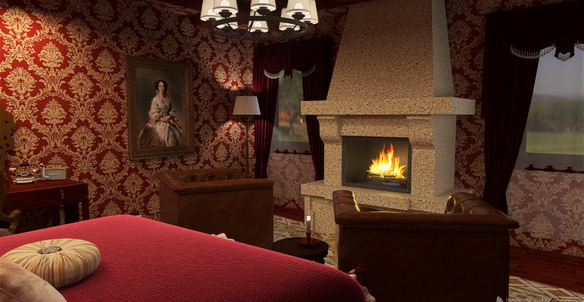 Victorian Bedroom Interior Design Render