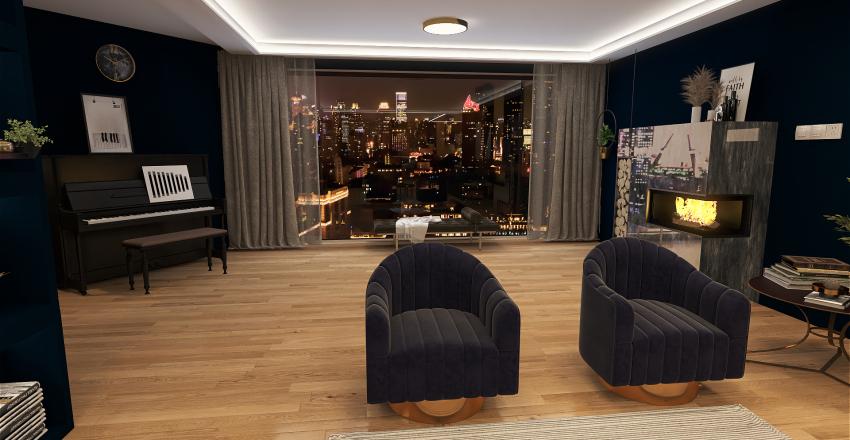 Downtown Apartment Interior Design Render
