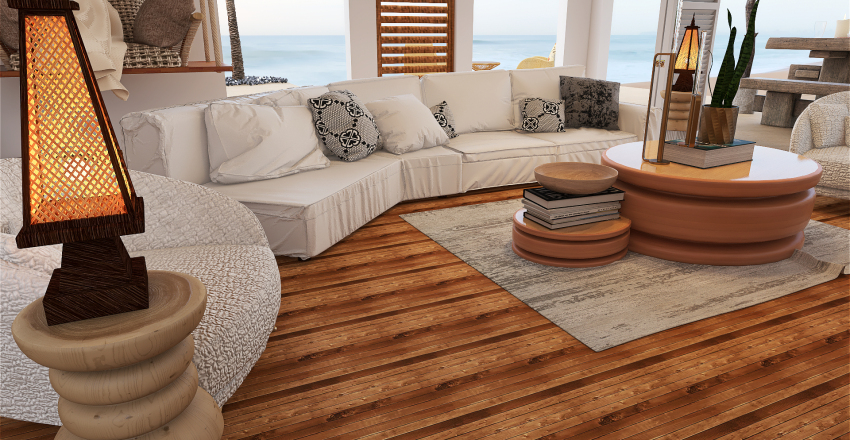 Coastal style House Interior Design Render