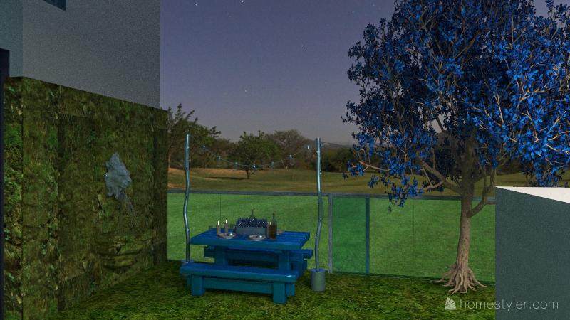 casa azul Interior Design Render