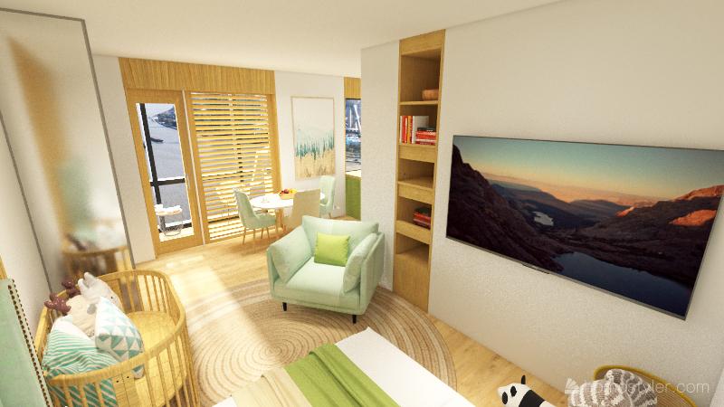 Однушка концепция - 2 Interior Design Render