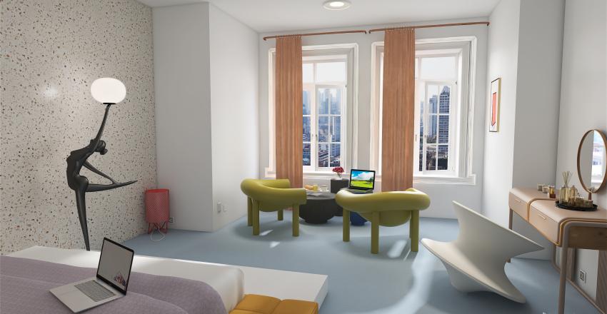 Memphis flat Interior Design Render
