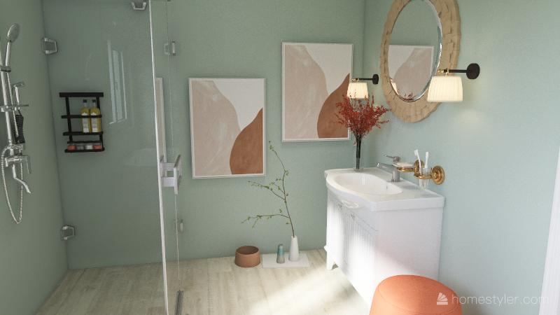 Gail F.'s Master Bathroom Interior Design Render