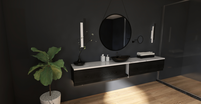 Coordinate bathroom sinks Interior Design Render