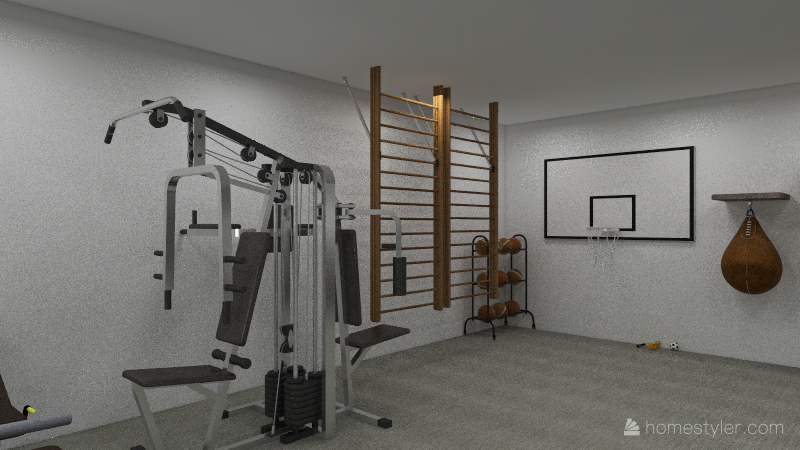 gym Interior Design Render