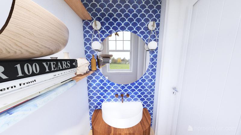 Gail F 1/2 bath Interior Design Render