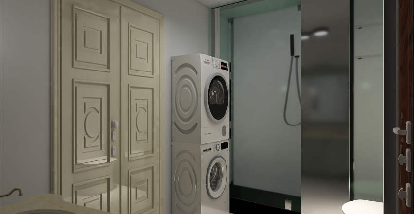2 Bed 1 Bath Unit Interior Design Render