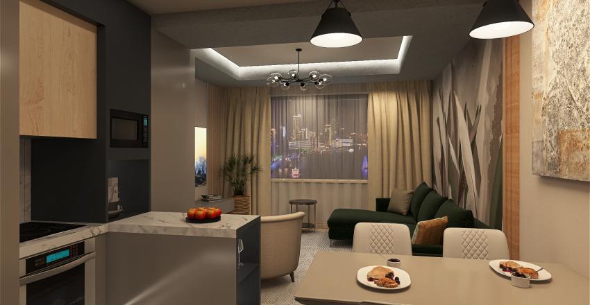 Квартира 102кв.м. эксперемент Interior Design Render