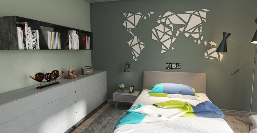 Bedroom for a teenager Interior Design Render