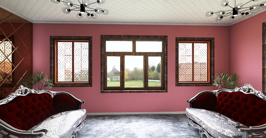 modern romance apt. Interior Design Render