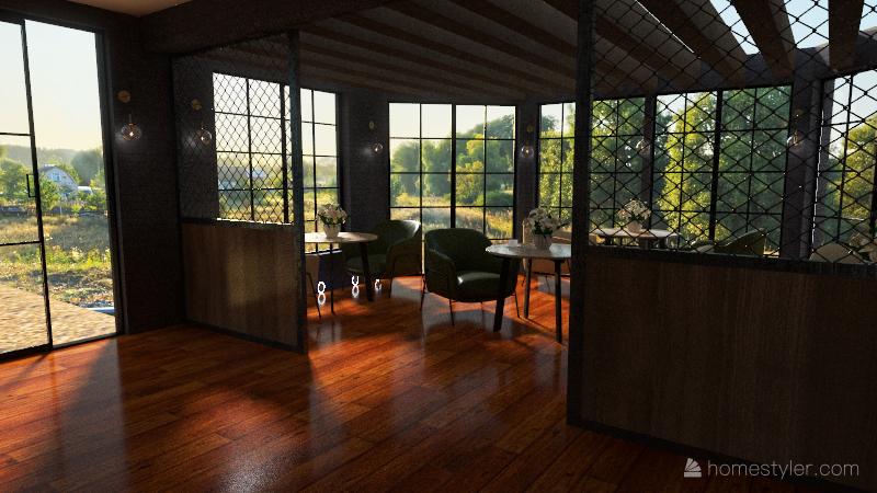 restaurante Interior Design Render