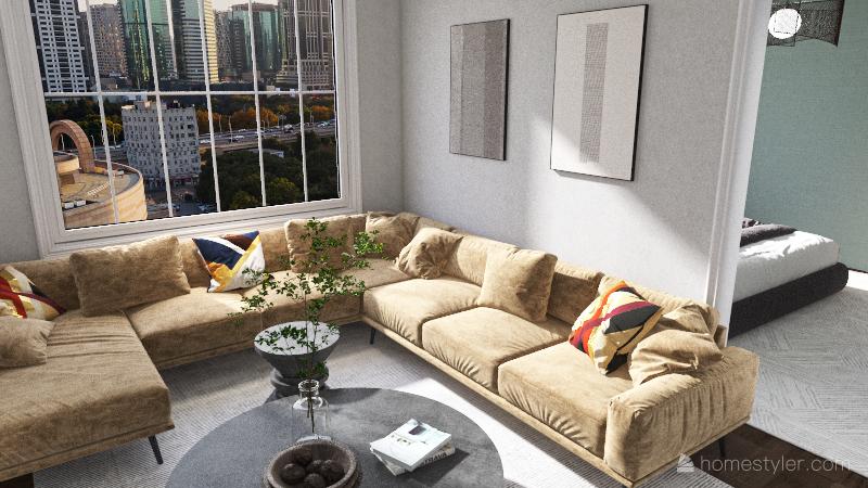 608 Apartment Interior Design Render