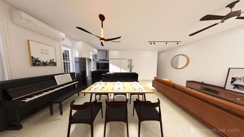 7 Rivervale Link Condo Interior Design Render