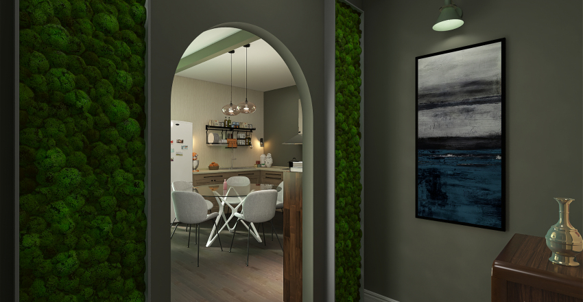 Sweet Home in London Interior Design Render