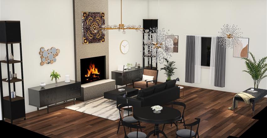 Great Room - Final Project Interior Design Render