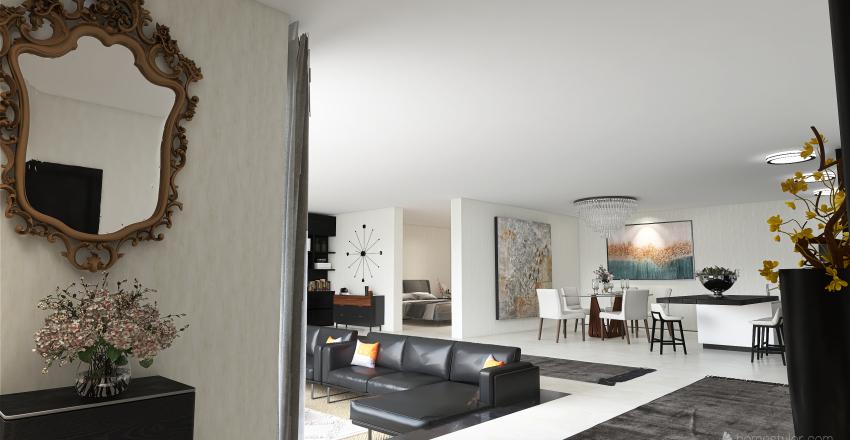 Sunkenroom in Loftstyle Interior Design Render