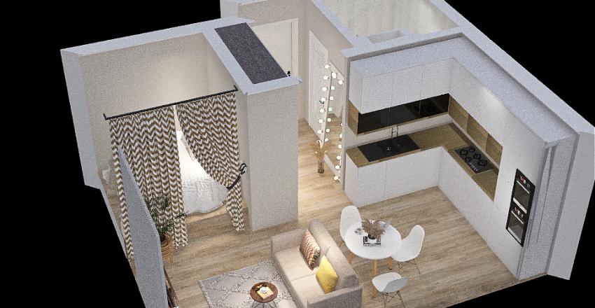 1 к кв 30 метров Interior Design Render
