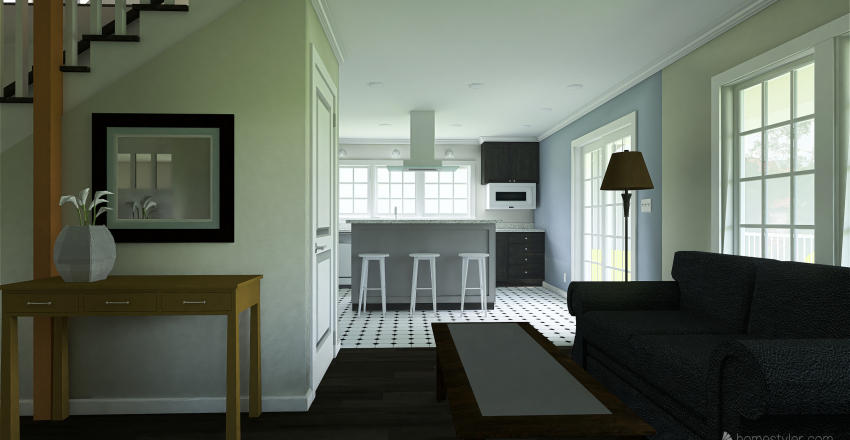 Two Story House in MN Interior Design Render
