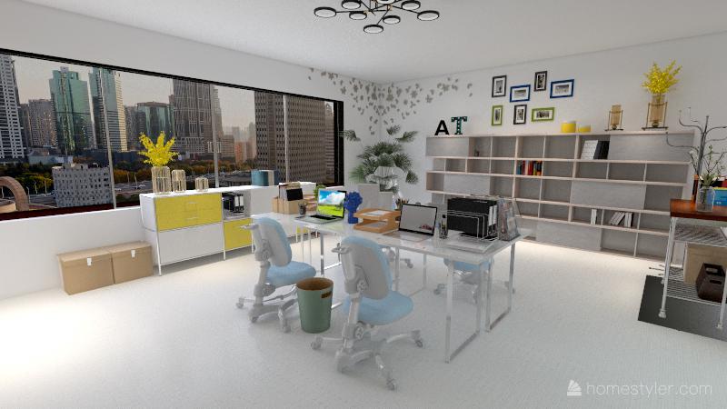 Oficina PROYECTO Interior Design Render