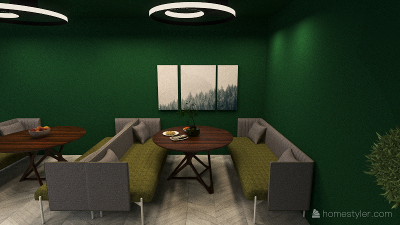 cafe  Interior Design Render