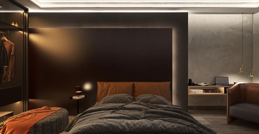 Dark Suite Interior Design Render
