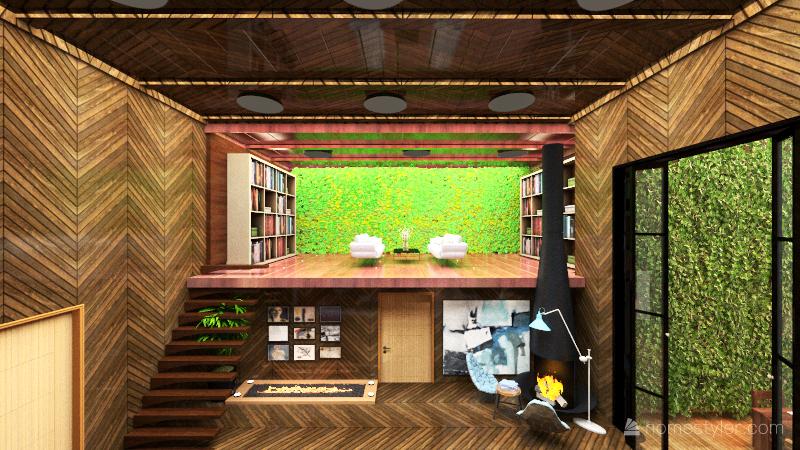 glass house Interior Design Render