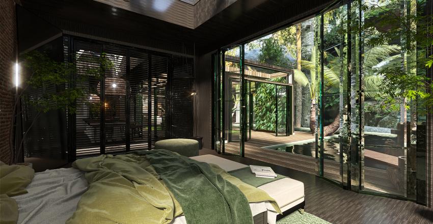 Organic living Interior Design Render