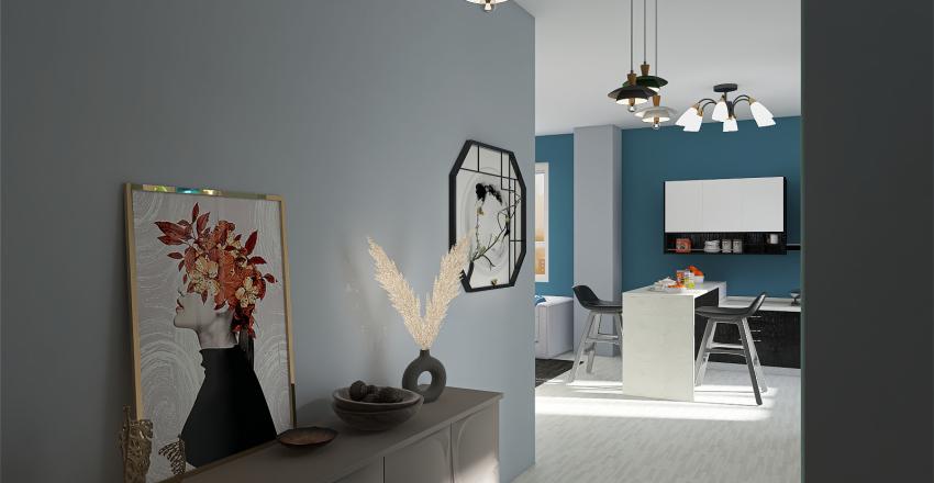 Blue Dream House Interior Design Render