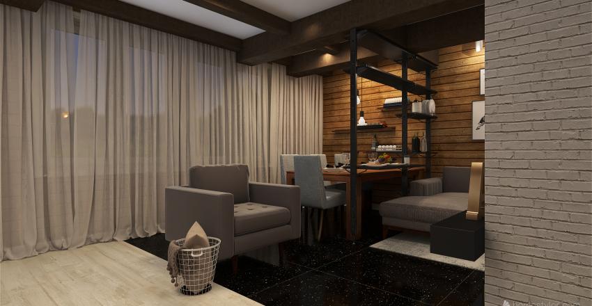 Livingroom in countryside house Interior Design Render