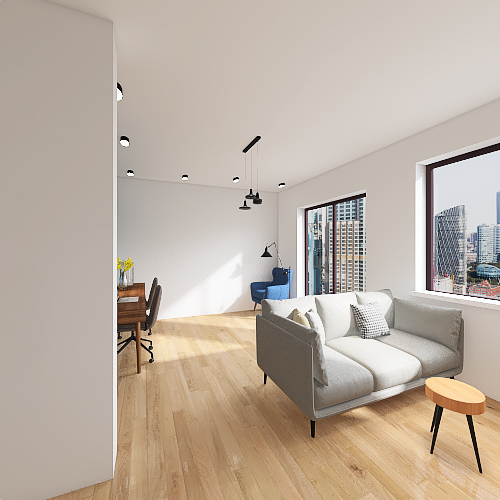 salon 1 lemele fotel Interior Design Render