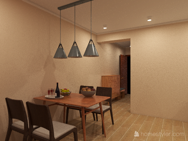 YING MING 7 Light Interior Design Render