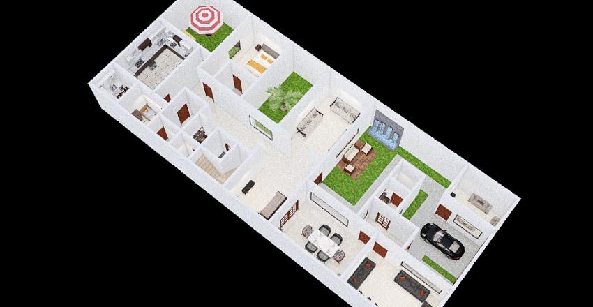 مخطط الدور الارضي زيد الفواز Interior Design Render