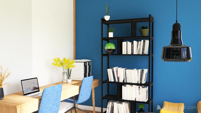 Copy of salon gotowa sciana z fotelem do prob Interior Design Render