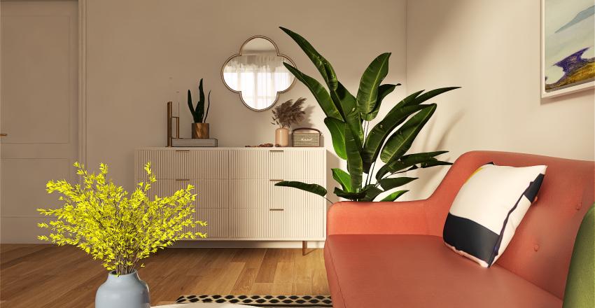 Apartment Livingroom Interior Design Render