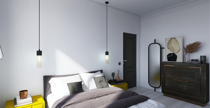 Shades of grey Interior Design Render