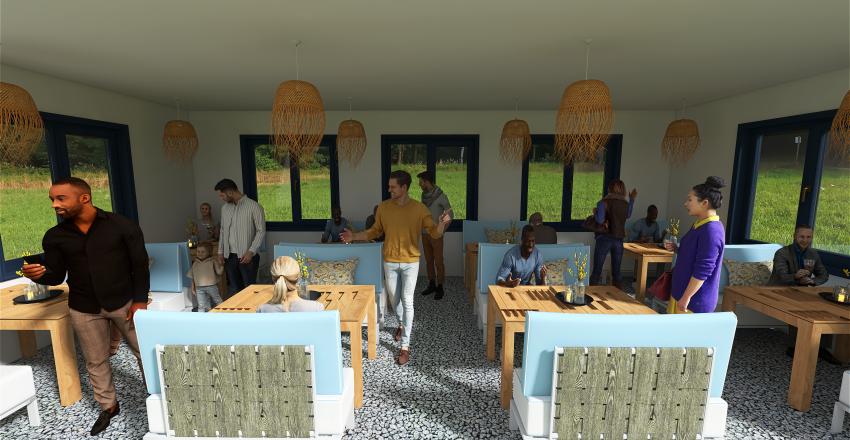 Balaton terrace Interior Design Render