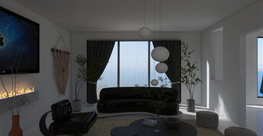 Black and white . Interior Design Render