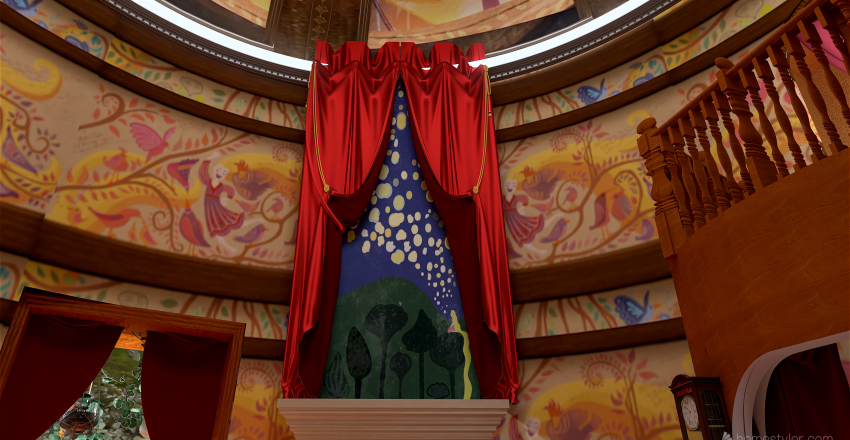 Rapunzel's Tower Interior Design Render