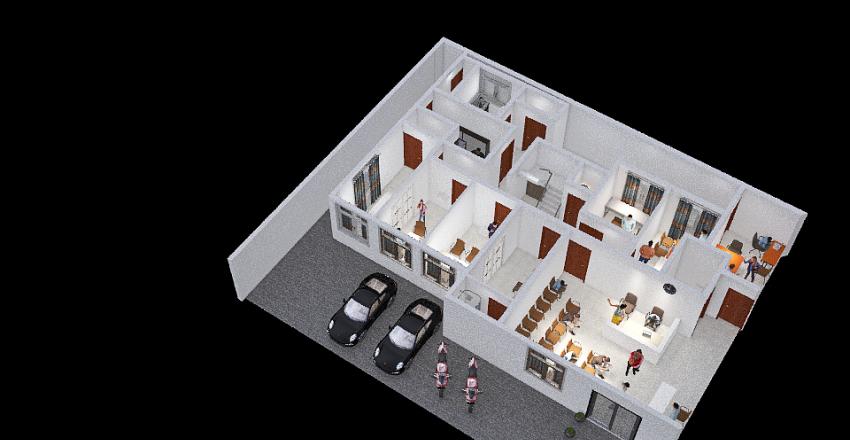 Clinica popular_Luís_Felipe_Arranjo_Físico_2021 Interior Design Render