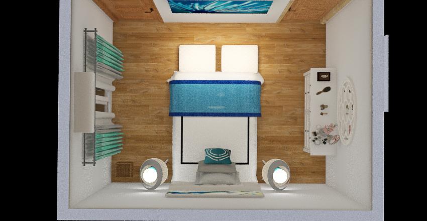 Casa Playa dormitorio Interior Design Render