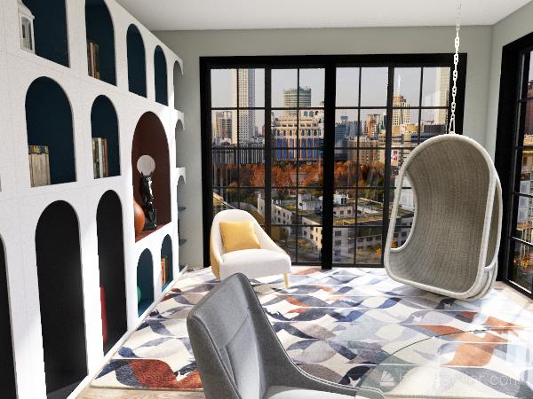 2 Bed 1 Bath Apartment Interior Design Render