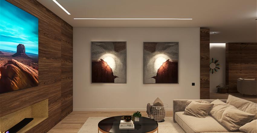 OPEN SPACE_LIVING&KITCHEN  Interior Design Render