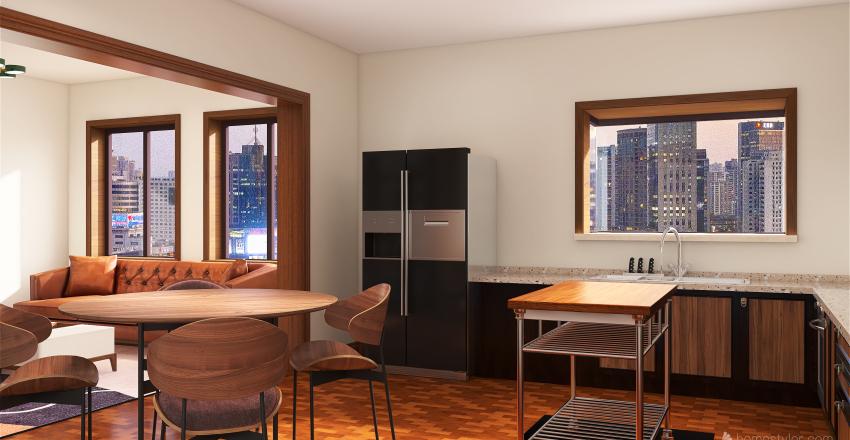 Re-design Chicago 2br Interior Design Render