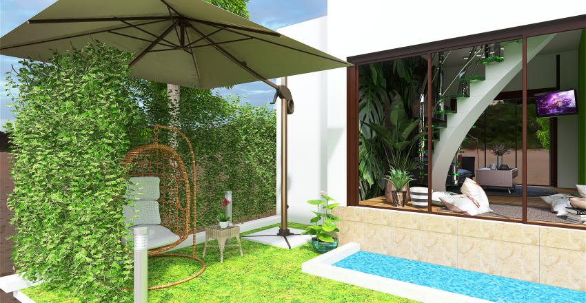 House by the sea Interior Design Render