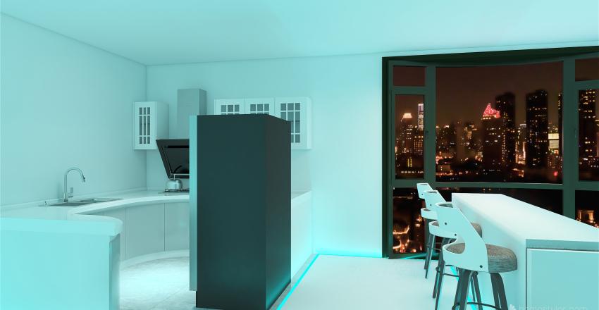 Cyber Apartment Interior Design Render