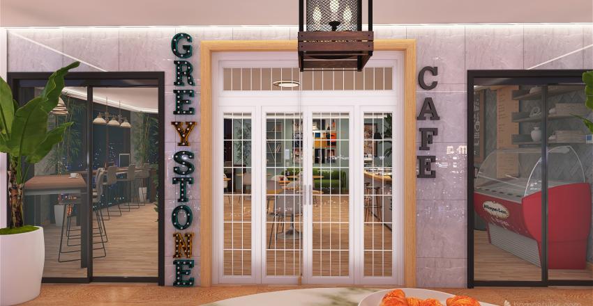 Greystone Cafe Interior Design Render