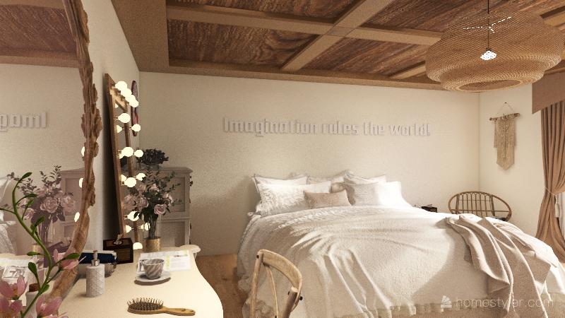 Mediterranean/Bohemian Interior Design Render